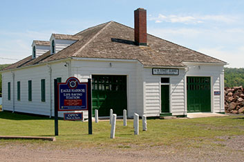 The Eagle Harbor Lifesaving Station exterior