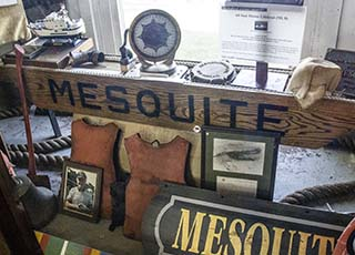 The Maritime Museum has several artifacts from the U.S.C.G. Cutter Mesquite.